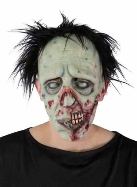 MASQUE DE ZOMBIE LATEX (Masque avec cheveux)
