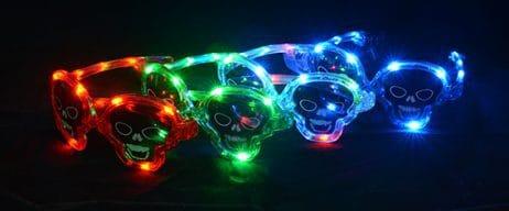 Lunettes têtes de mort lumineuses