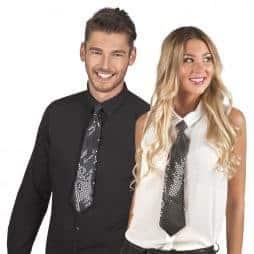 cravates disco noires
