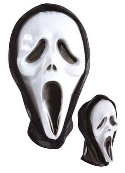Masque avec cagoule plastique