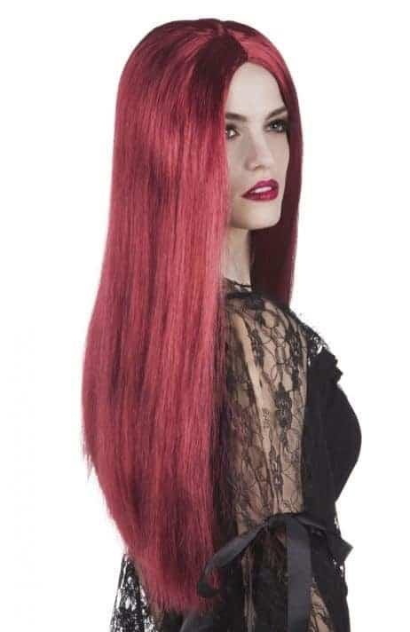 Perruque acajou cheveux longs