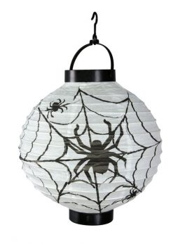 Lampion 20 cm motif araignee