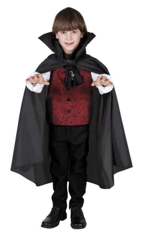 cape noire vampire enfant