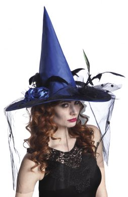 Chapeau sorciere bleu