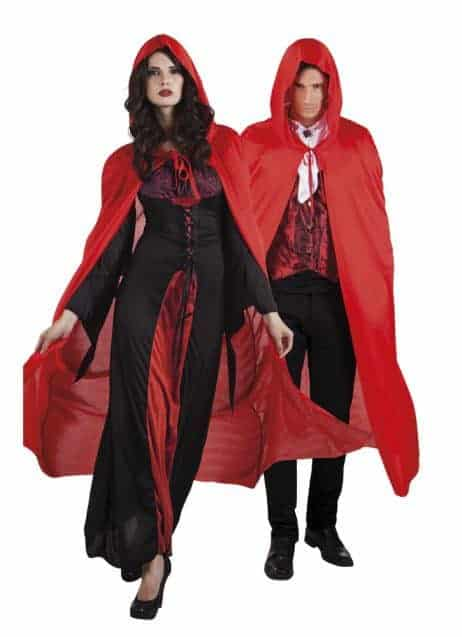 Cape satin rouge vampire
