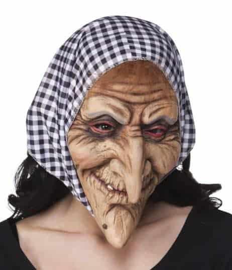 Masque vieille sorciere latex