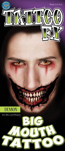 Sourire demon tatouage fx