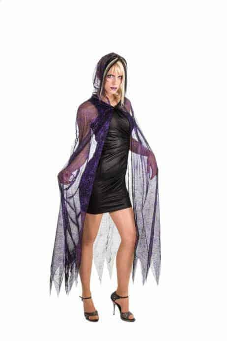 Cape araignee violet noir