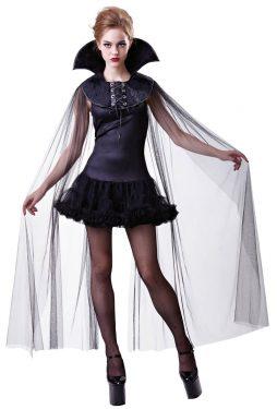 Cape col noir vampiresse