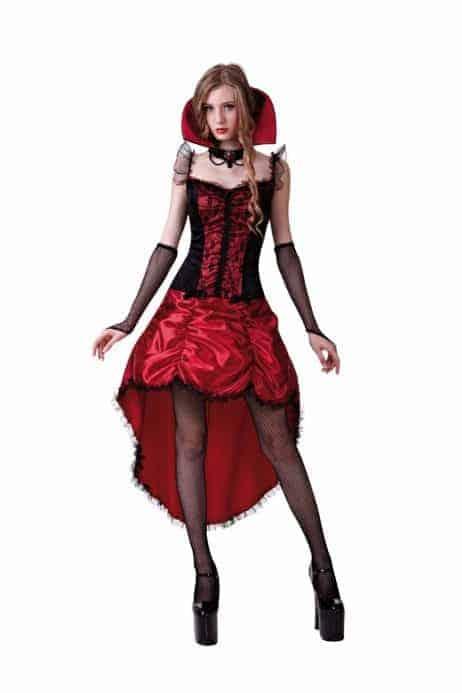 Robe cabaret gothique