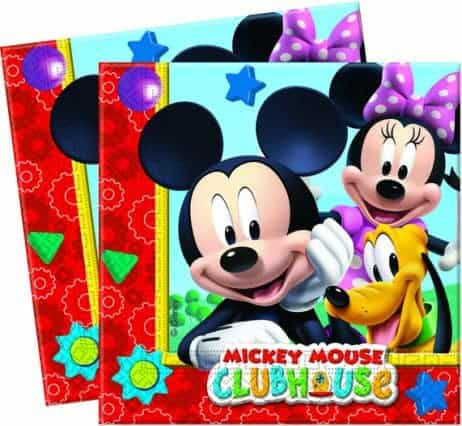 Serviettes en papier Mickey Mouse