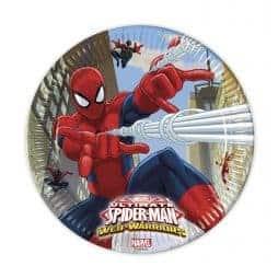 Assiettes en carton Spiderman