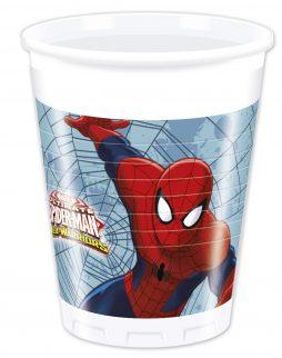 Verres jetables spiderman