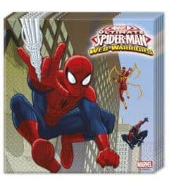 Serviettes spiderman en papier