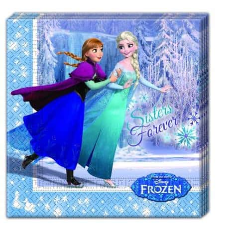 Serviettes Frozen en papier