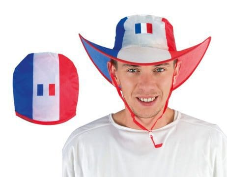 CHAPEAU COW BOY BBR (Pliable - Supporter France)