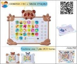 Ordinateur alphabet + tableau effaçable pour enfant