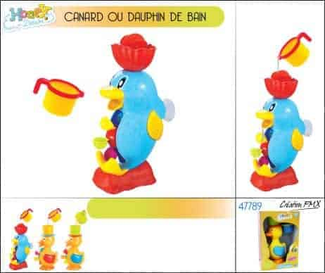 ANIMAUX POUR LE BAIN (Canard ou Dauphin)