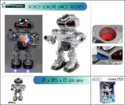 Robot lance disque sonore et lumineux