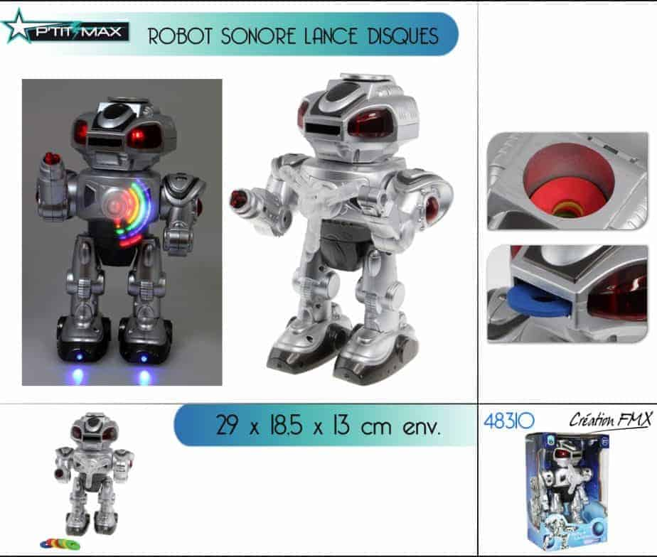 Robot lance disque sonore et lumineux ced for Grossiste robot piscine