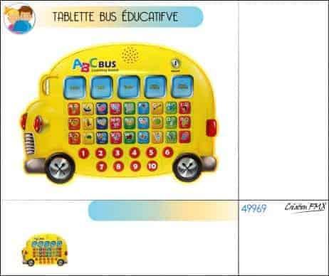 Bus tablette enfant