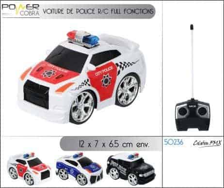 VOITURE DE POLICE (RADIOCOMMANDÉE) Voitures en 3 coloris