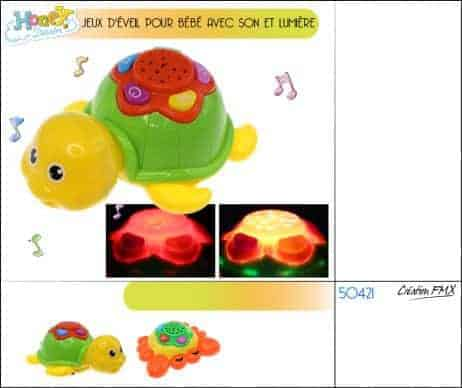 Tortue musicale d'eveil