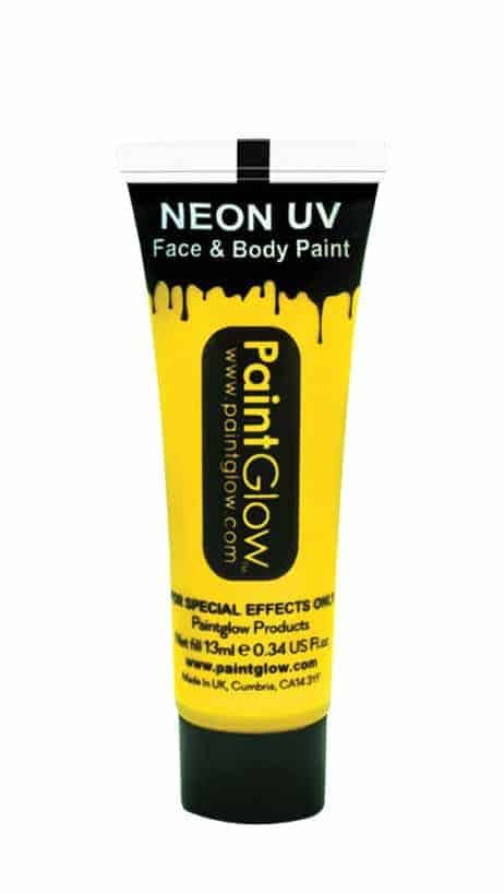 BODYPAINTING JAUNE (Maquillage Fluo UV - 13 ml)