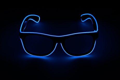 Paire de lunettes bleues led