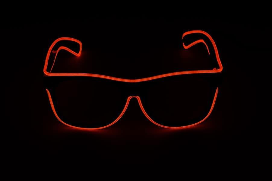 Lunettes de soir/ée Lunettes pour carnaval lumineuse LED rouges