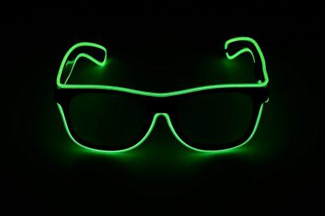 Paire de lunettes led verte