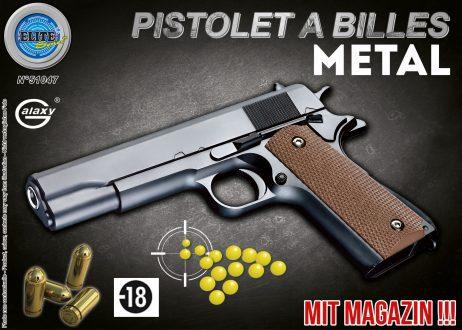 Pistolet en métal a billes