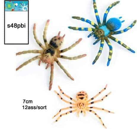 Lot de 48 araignées 7 cm