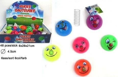 BOX - PUCES SAUTEUSES (Taille 45 mm - 6 coloris)