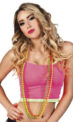 Colliers perles fluo