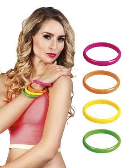 Bracelets neon plastique