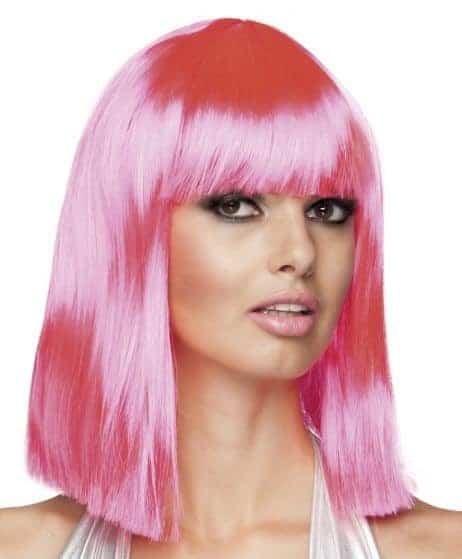 Perruque rose femme