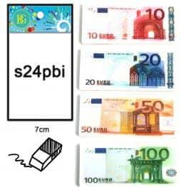 Gommes billets euros