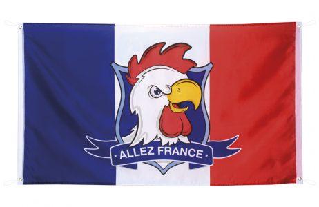 DRAPEAU COQ FRANÇAIS (Supporter France BBR)