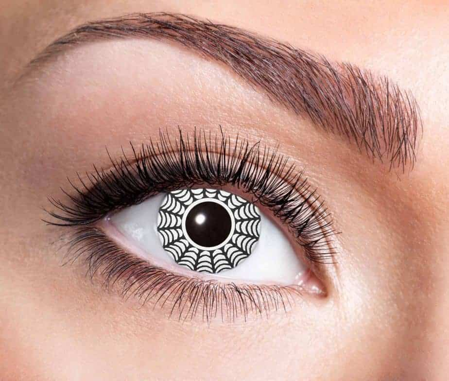 Lentilles d coratives yeux motif araign e lentilles longue dur e ced - Produit anti araignee longue duree ...
