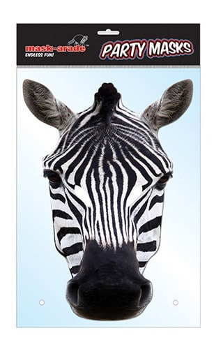 Masque zebre carton