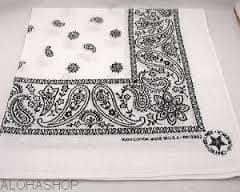 Bandana blanc tissu