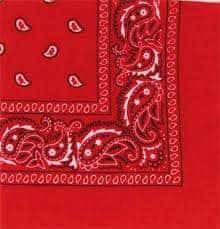 bandana rouge 50 x 50