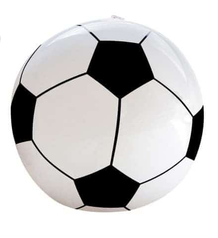 Ballon football gonflable
