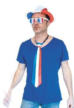 Cravate bleu blanc rouge