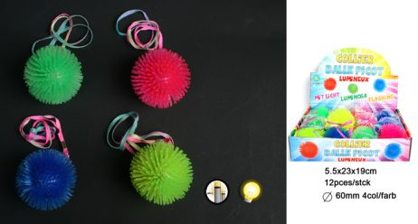 BALLES PICOTS LUMINEUSES (Balle picot 60 mm + collier)