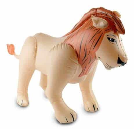 Lion gonflable déco