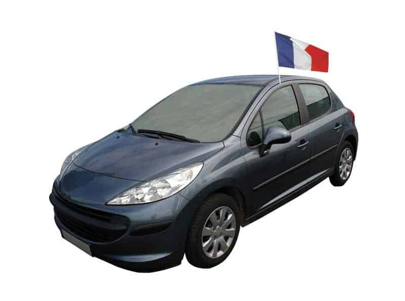Drapeau france voiture supporter france bbr taille 30 x for Taille rehausseur voiture