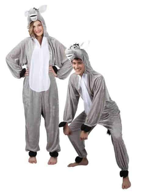 DÉGUISEMENT D'ÂNE GRIS (Kigurumi pyjama peluche) Taille adulte