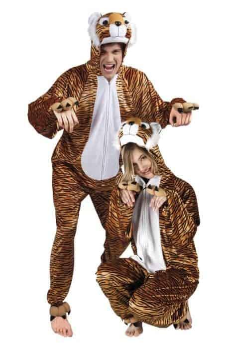 DÉGUISEMENT DE TIGRE (Kigurumi pyjama peluche) Taille adulte